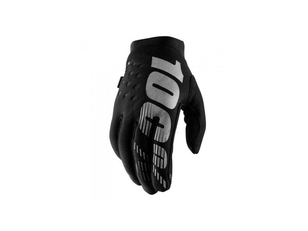 rukavice 100 brisker black grey