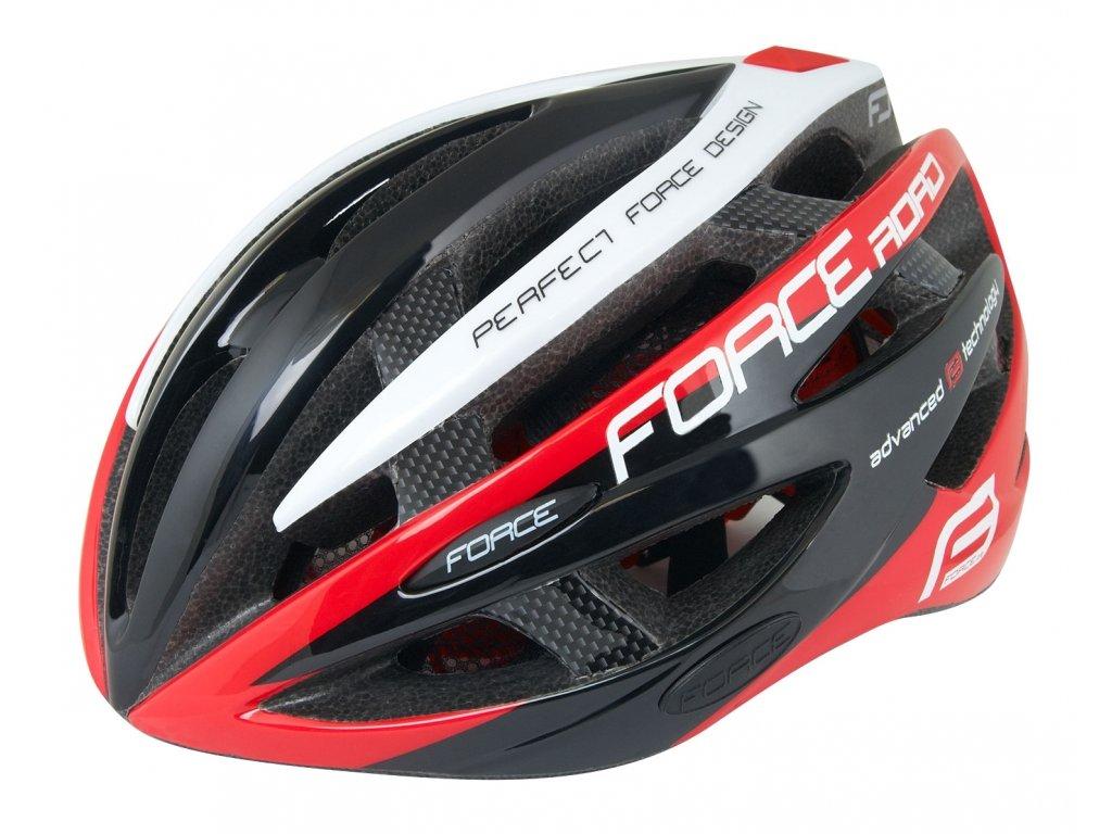 FORCE helma ROAD černo:červená:bílá 1