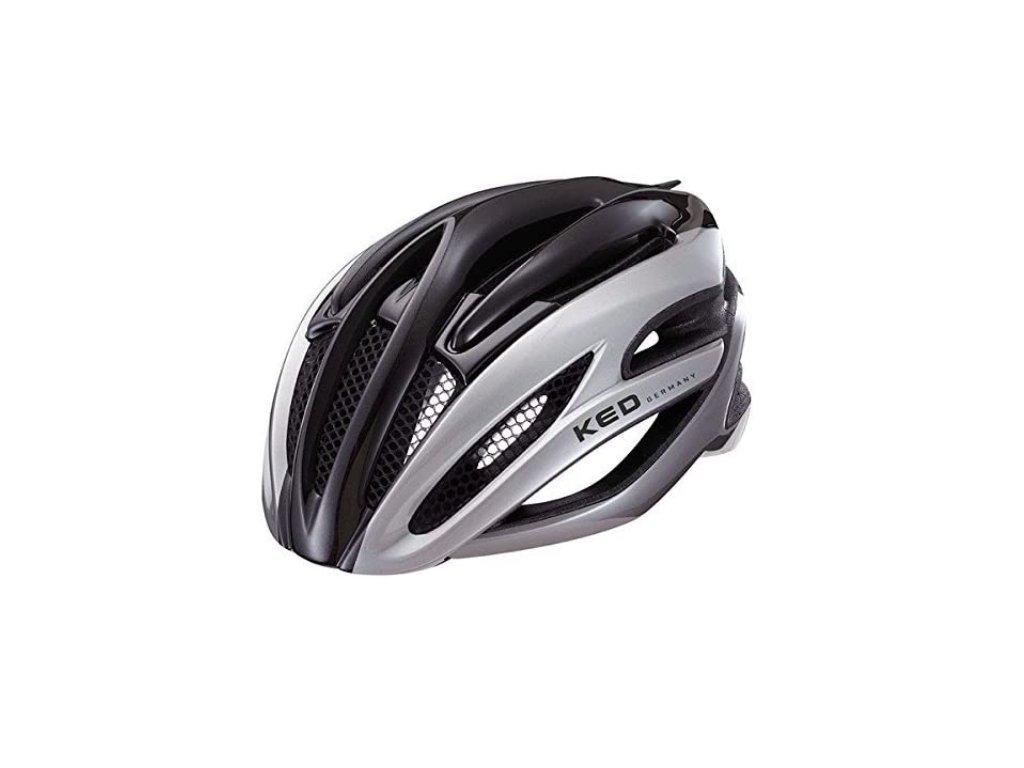 KED helma WAYRON černá:stříbrná