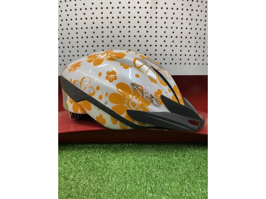 KED helma s oranžovými květy 3