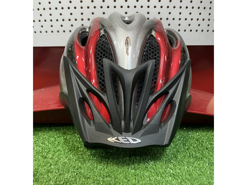 KED helma JOKER L červeno:stříbrná 1