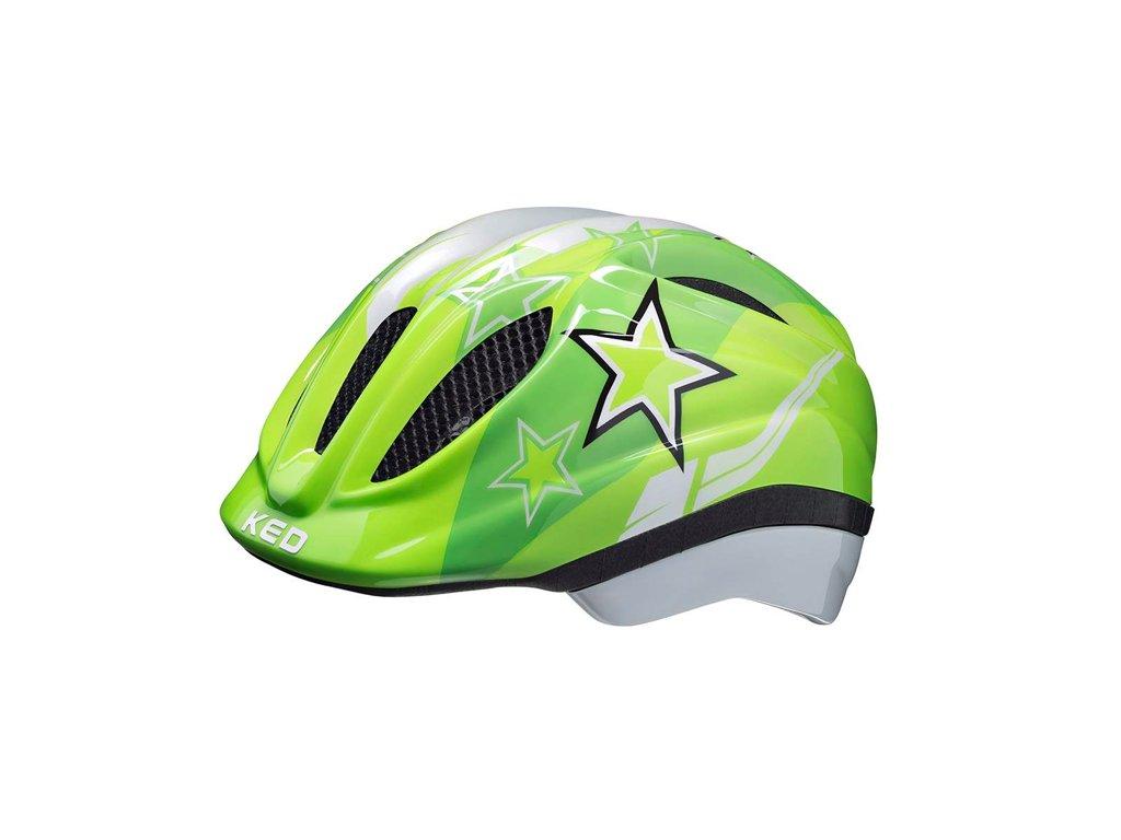 KED helma MEGGY green stars