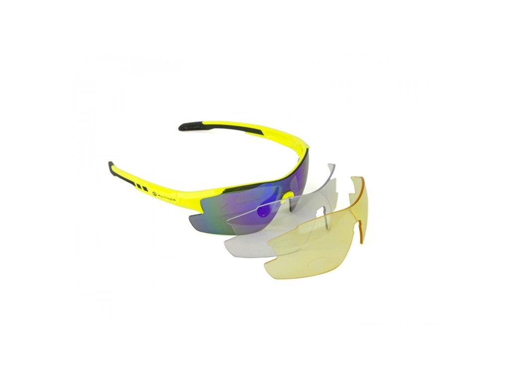 AUTHOR brýle VISION LX žlutá neonová