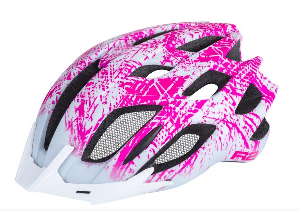 R2 helma TOUR bílá:růžová