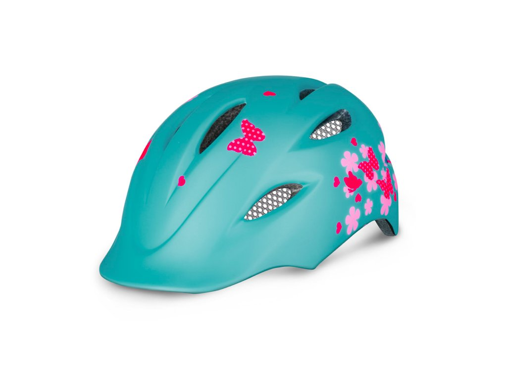R2 helma DUCKY mentolově zelená:růžová lesklá 1