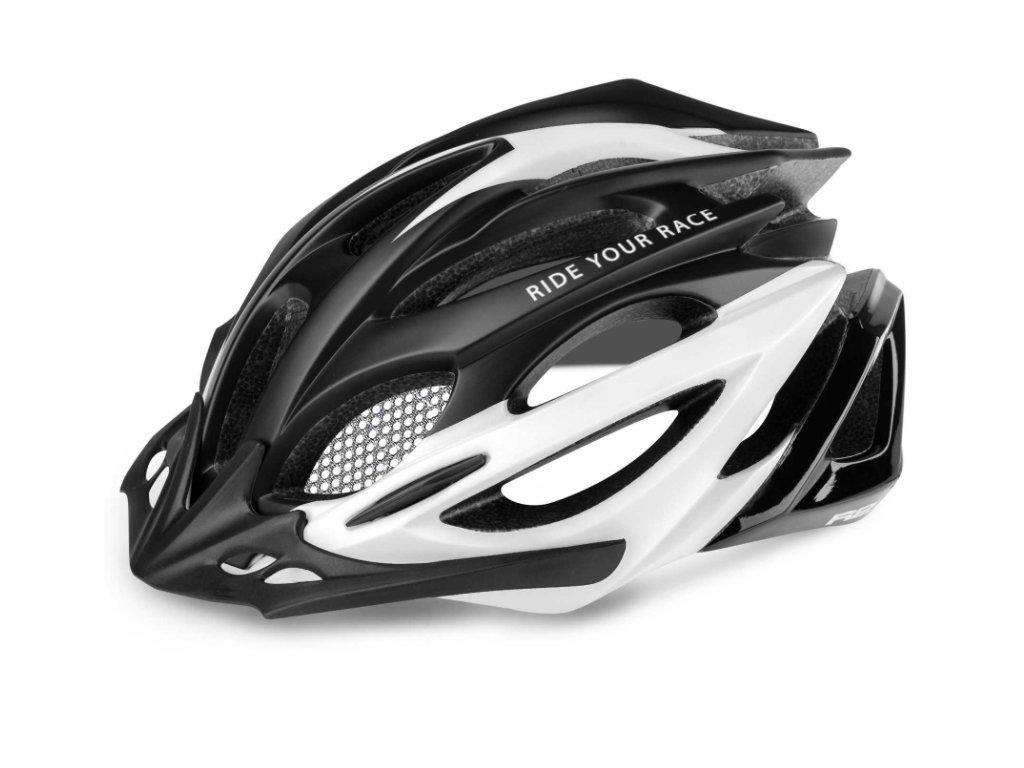 R2 helma PRO TEC matná černá:bílá