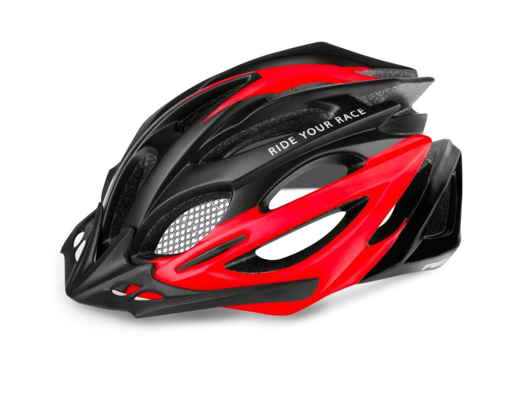 R2 helma PRO TEC matná černá:červená