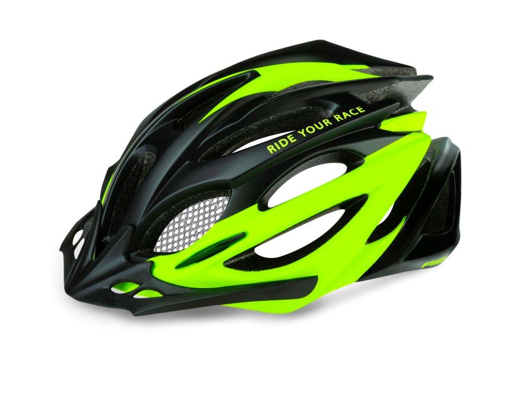R2 helma PRO TEC matná černá:neon žlutá