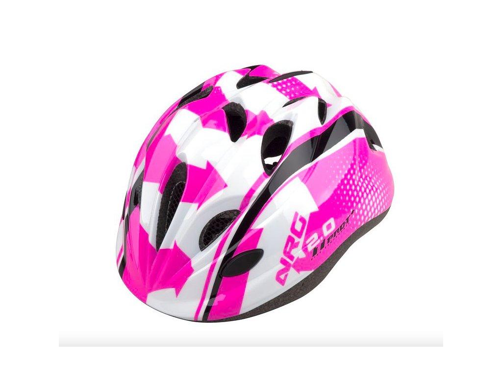PRO T helma TOLEDO růžovo bílo černá XS (48 52cm)