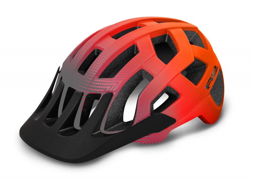 R2 helma FARGO matná šedá:oranžová 1