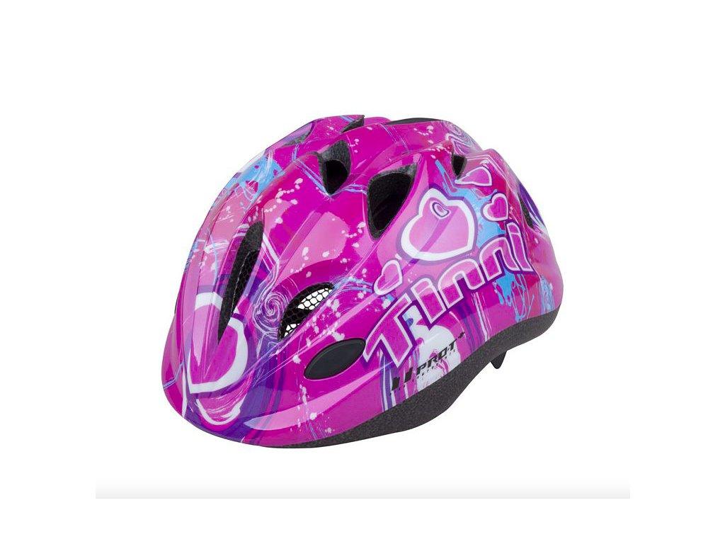 PRO T helma TOLEDO růžová Tinni XS (48 52cm)