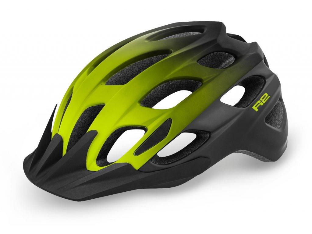 R2 helma CLIFF matná černá:žlutá neon 1
