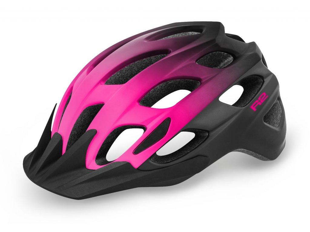 R2 helma CLIFF matná černá:růžová