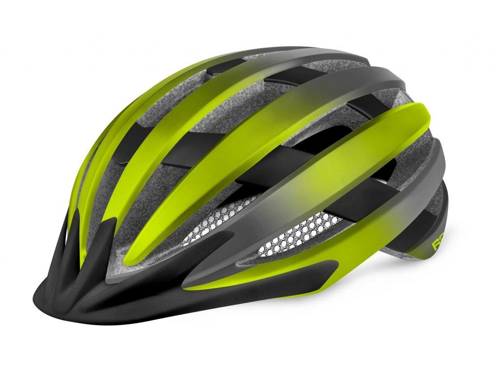 R2 helma VENTU matná neon žlutá: černá ATH27E:M 1