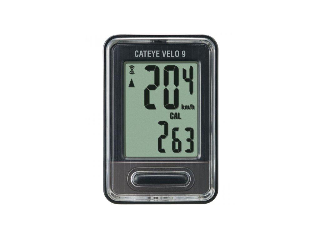 CATEYE Cyklopočítač CAT Velo 9 (VL820) (černá)
