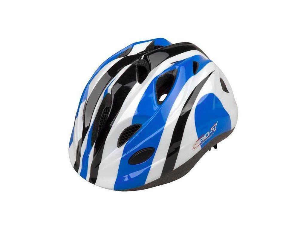 PRO T helma TOLEDO dětská modro bílá S (28 52cm)