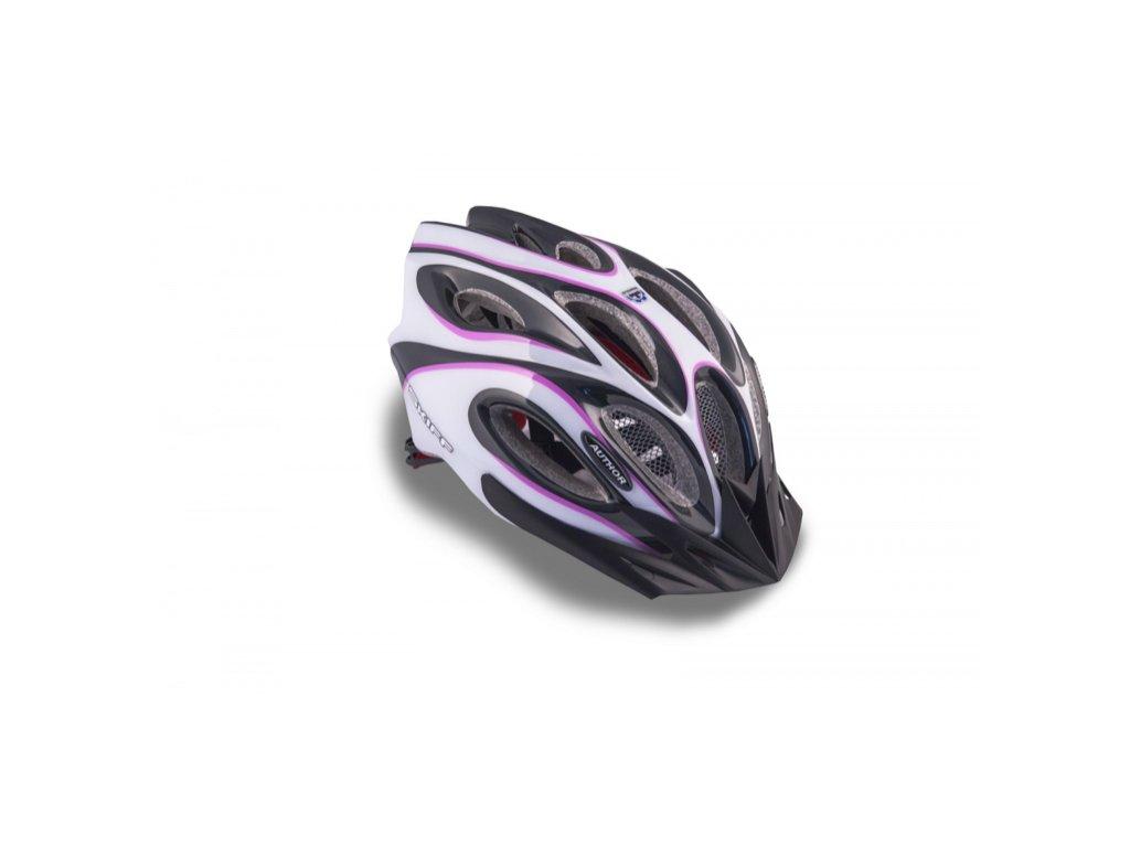 AUTHOR helma Skiff Inmold 58 62 cm bílá:fialová:černá