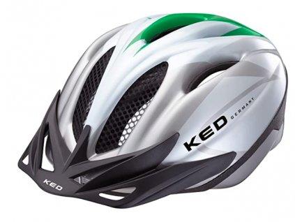 KED helma JOKER zelená:stříbrná