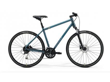 Merida Crossway 100 teal blue (Silver Blue:Lime) 1