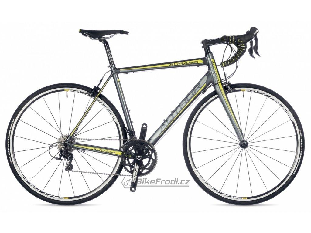 AUTHOR Aura 55 černá/stříbrná/zelená, vel. 56 cm