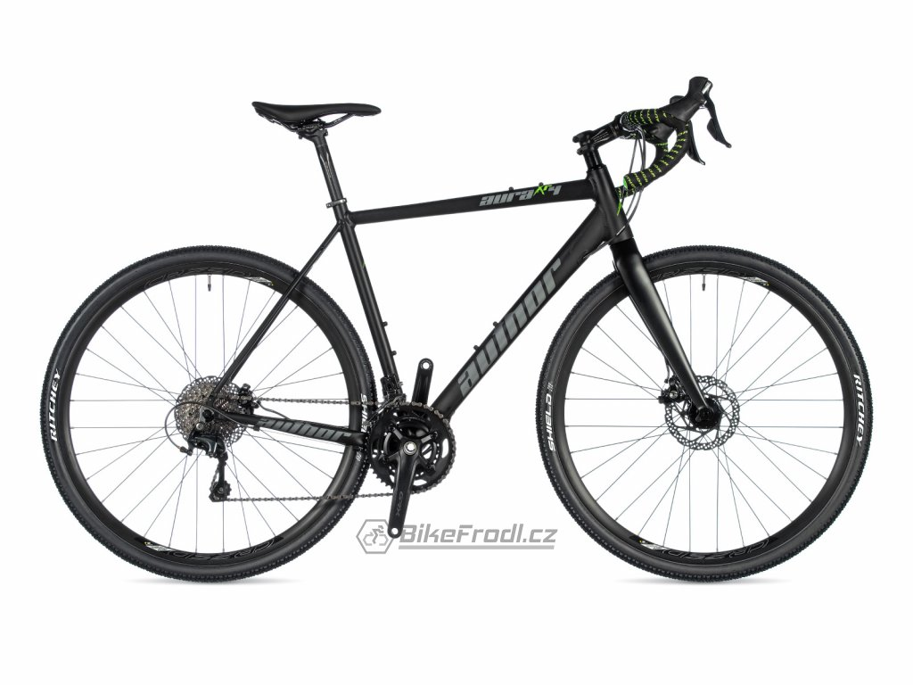 AUTHOR Aura XR4 černá-matná/zelená, vel. 50 cm