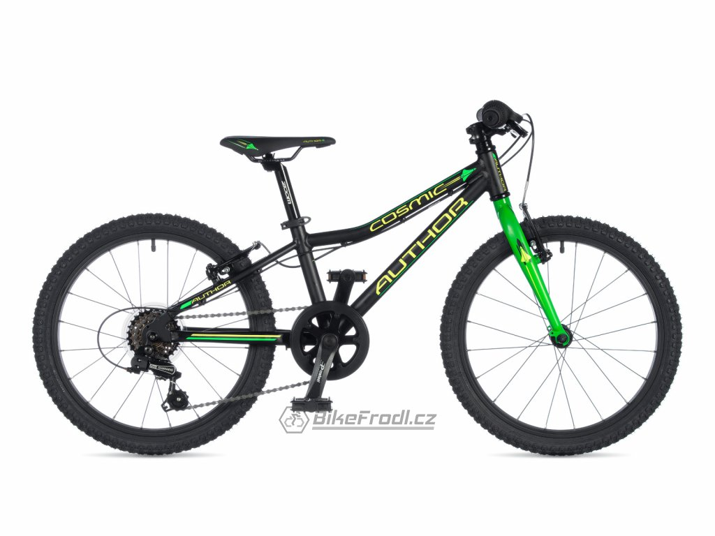 AUTHOR Cosmic 20 černá-matná/zelená-neon