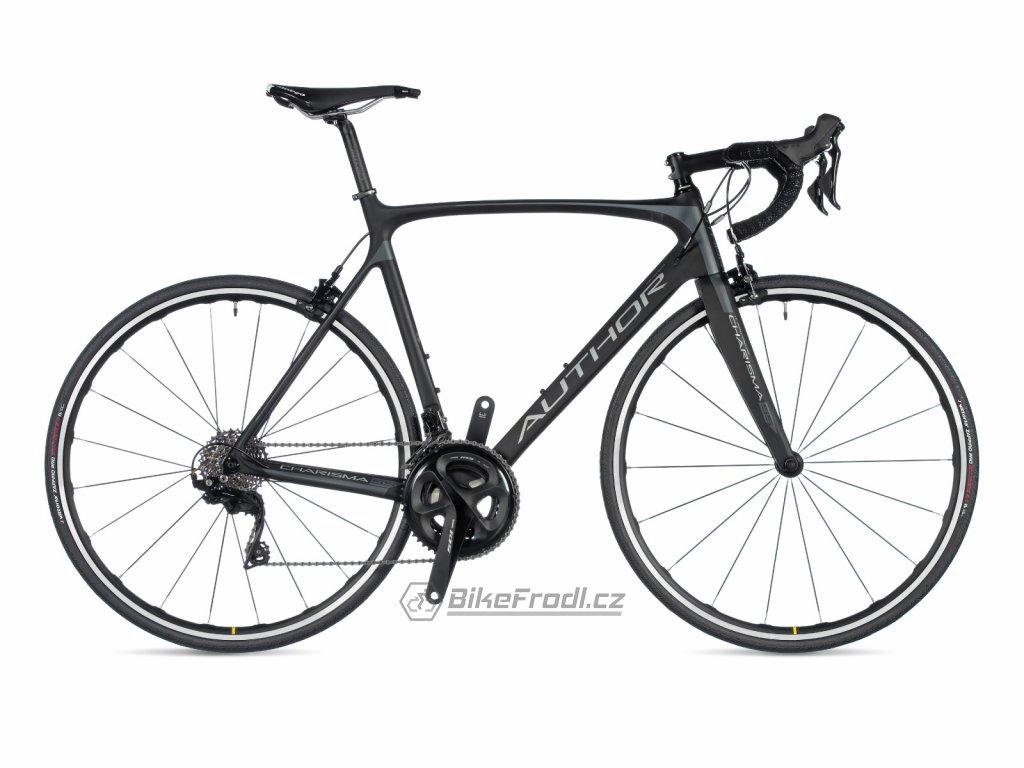 AUTHOR Charisma 55 karbon-matná/stříbrná, vel. 62 cm