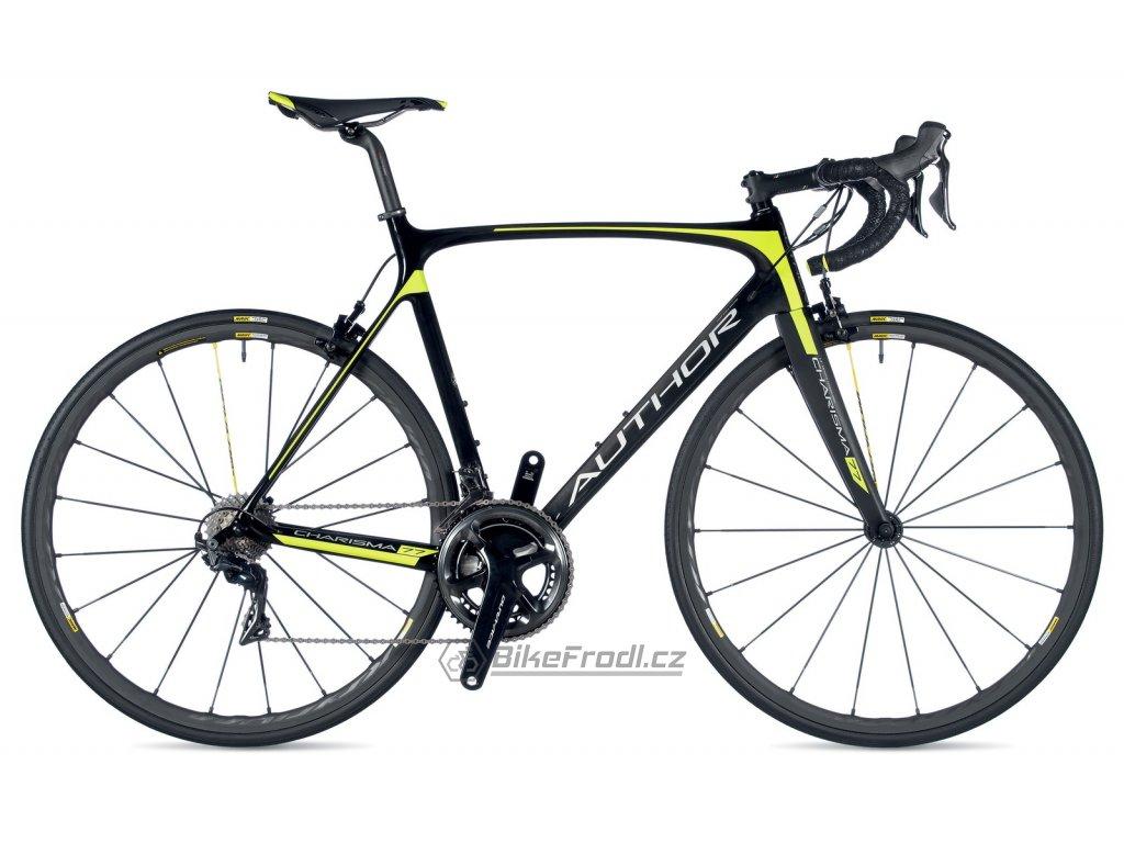 AUTHOR Charisma 77 karbon/žlutá-neon, vel. 60 cm