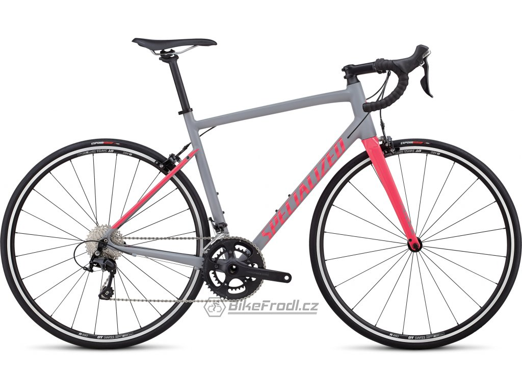 SPECIALIZED Allez Elite Satin Cool Gray/Gloss Hot Pink, vel. 58 cm