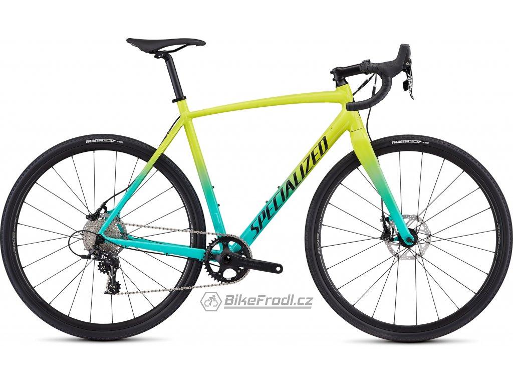 SPECIALIZED CruX E5 Sport Gloss Team Yellow/Acid Mint/Tarmac Black/Clean, vel. 56 cm