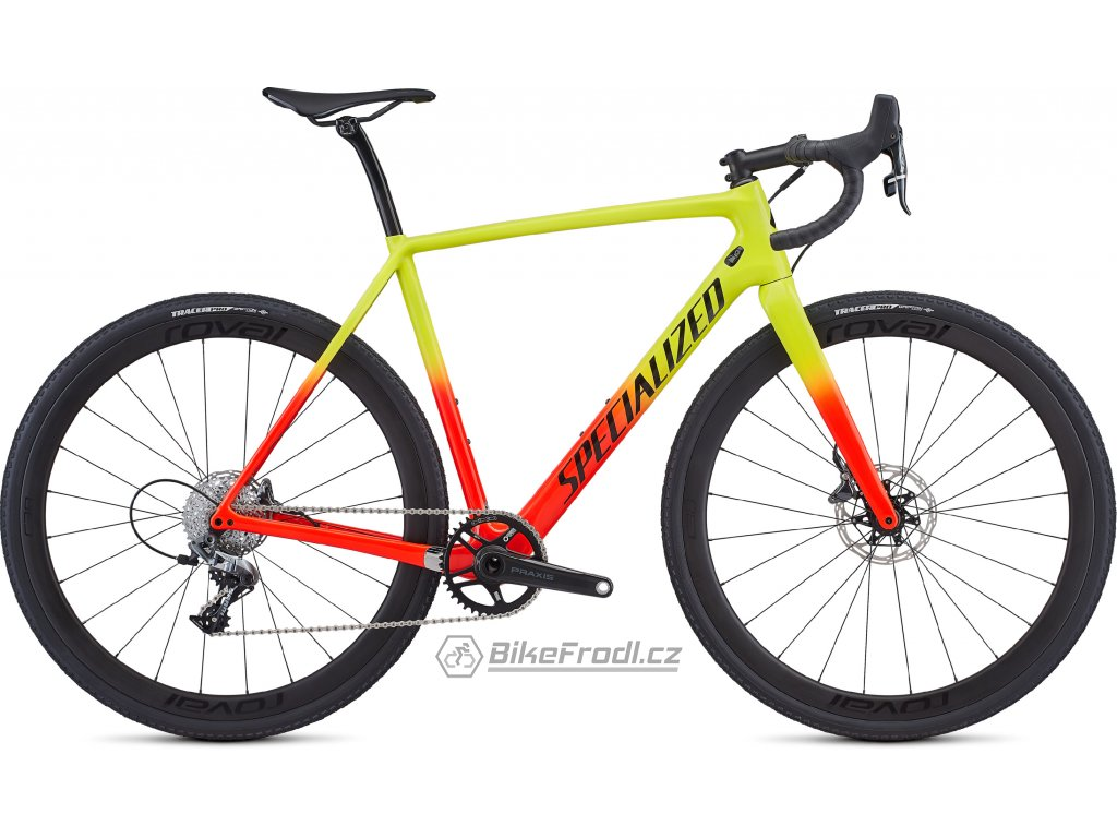 SPECIALIZED CruX Expert Gloss Team Yellow/Rocket Red/Tarmac Black/Clean, vel. 58 cm
