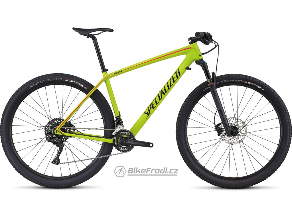 SPECIALIZED Epic Hardtail Comp Carbon Gloss Hyper/Black/Nordic Red, vel. L