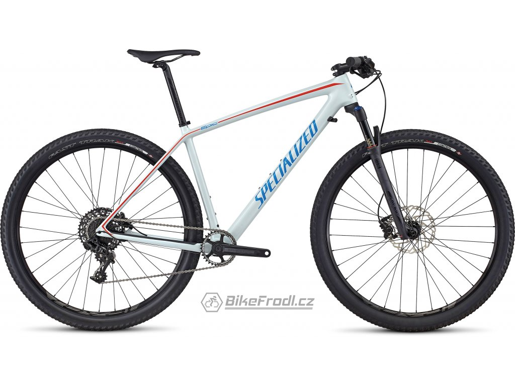 SPECIALIZED Epic Hardtail Comp Carbon World Cup Gloss Baby Blue/Neon Blue/Nordic Red, vel. XL