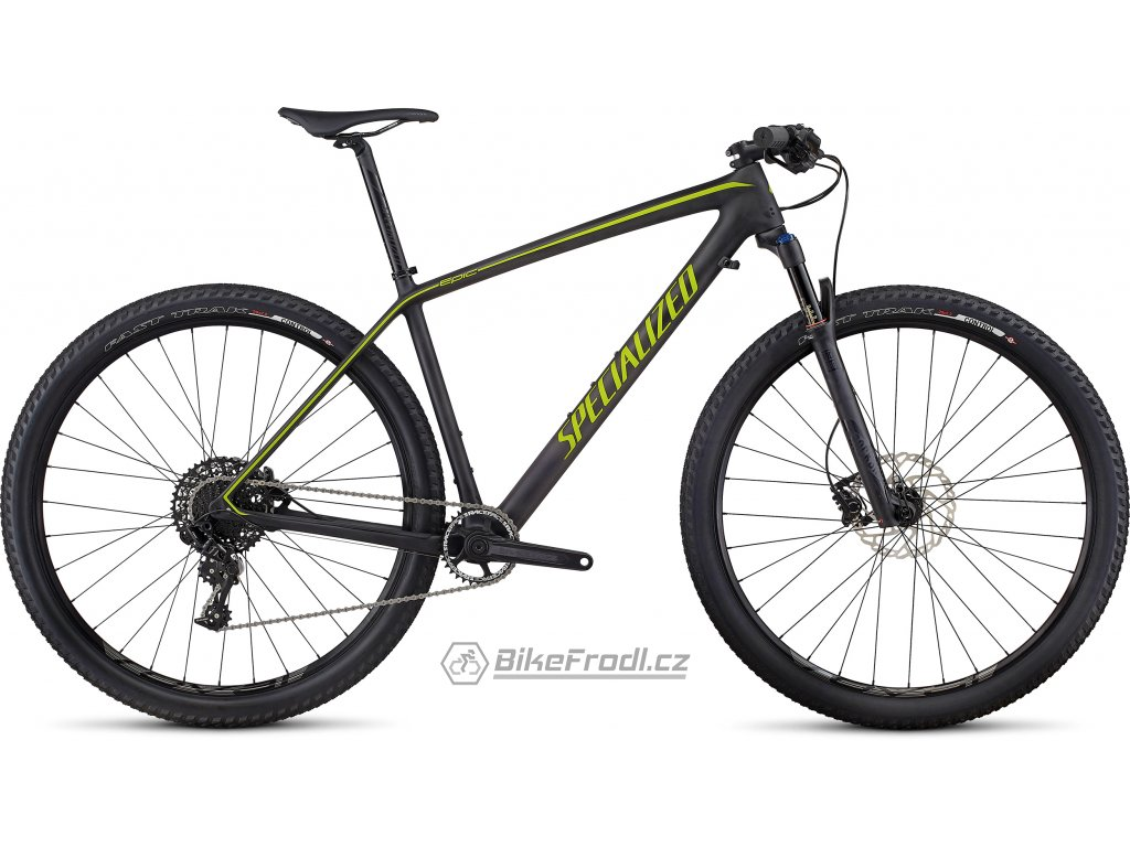 SPECIALIZED Epic Hardtail Comp Carbon World Cup Satin Carbon/Hyper Green, vel. XL