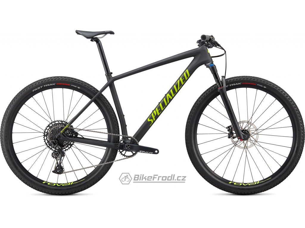 SPECIALIZED Epic Hardtail Comp Satin Carbon/Hyper Green, vel. L