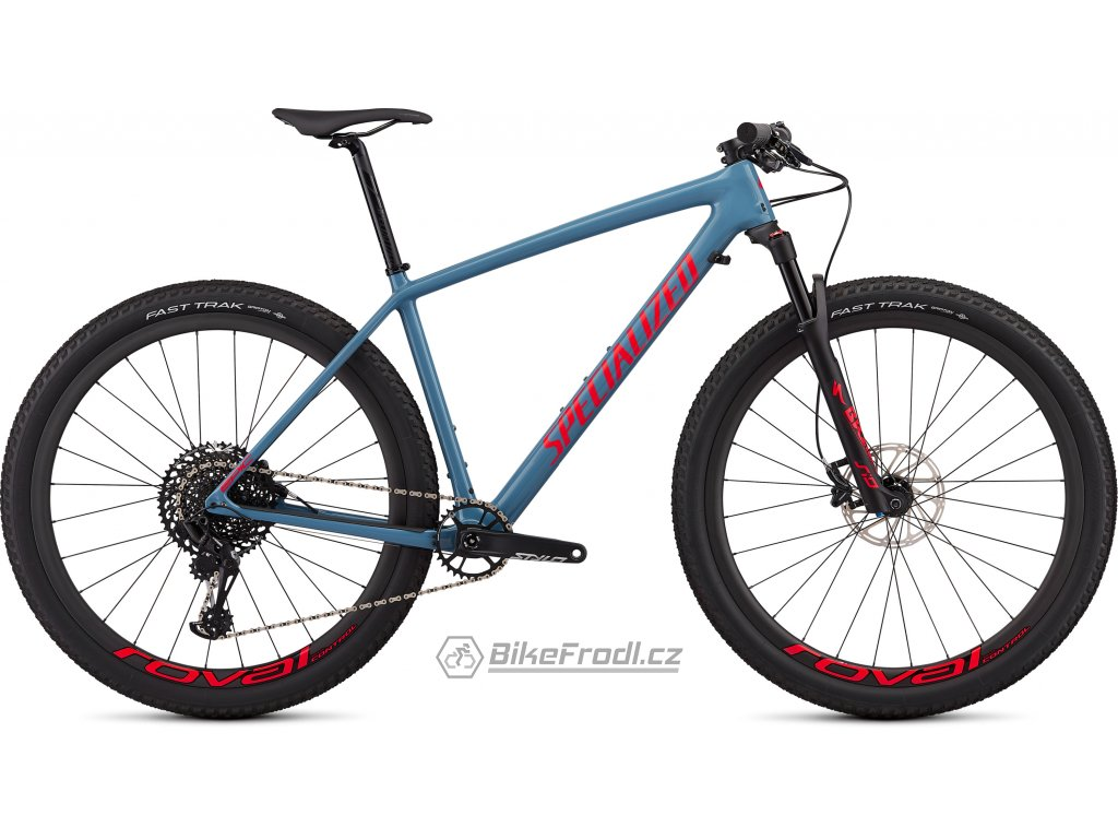 SPECIALIZED Epic Hardtail Expert Gloss Storm Grey/Rocket Red, vel. L
