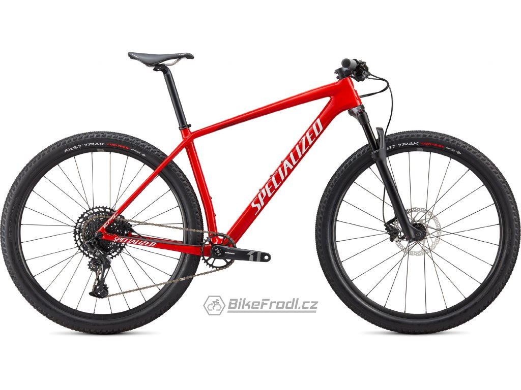 SPECIALIZED Epic Hardtail Gloss Flo Red/Metallic White Silver/Tarmac Black, vel. S