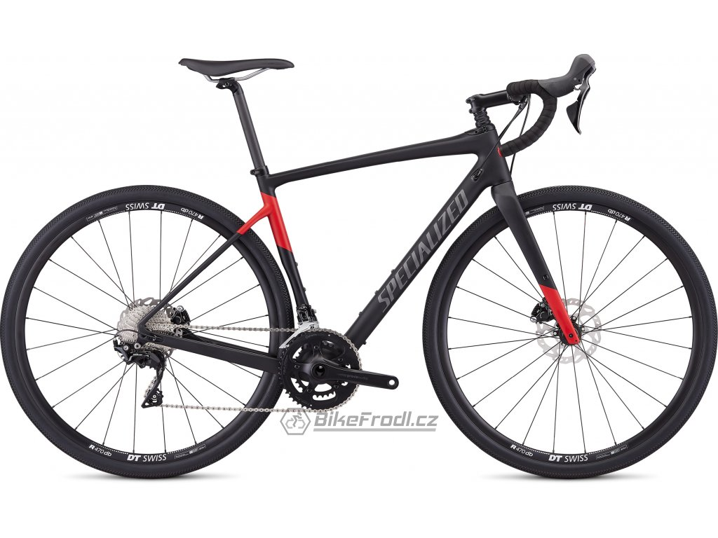 SPECIALIZED Men's Diverge Sport Satin Tarmac Black/Flo Red, vel. 58 cm