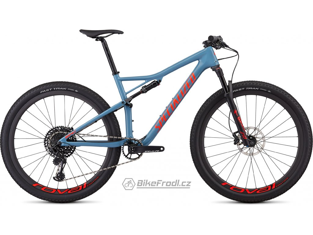 SPECIALIZED Men's Epic Expert Gloss Storm Grey/Rocket Red, vel. S