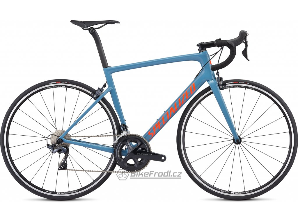 SPECIALIZED Men's Tarmac Comp Gloss Storm Grey/Rocket Red/Clean, vel. 52 cm