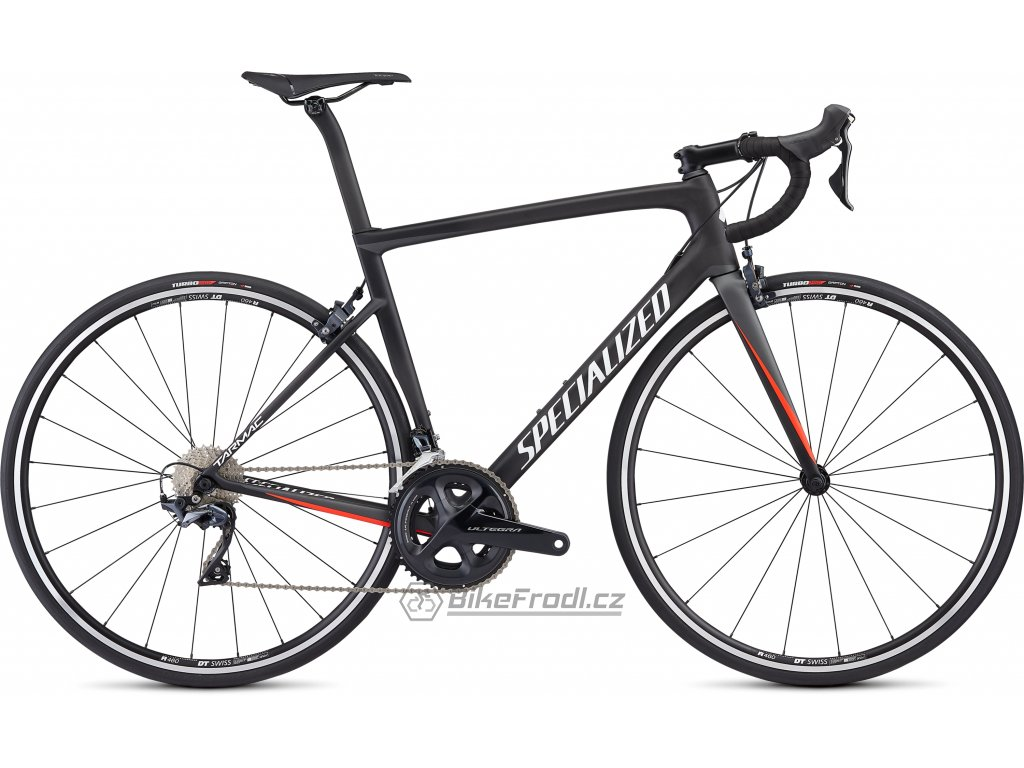 SPECIALIZED Men's Tarmac Comp Satin Carbon/Charcoal/Rocket Red/White, vel. 56 cm