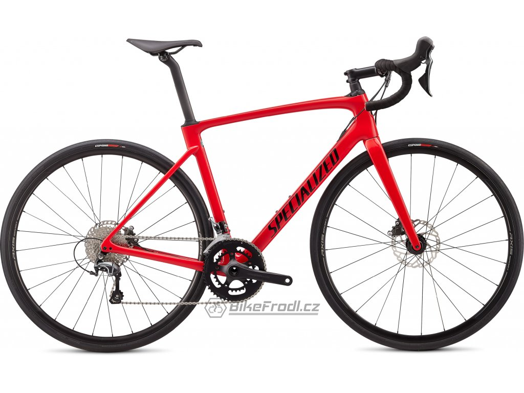 SPECIALIZED Roubaix Gloss Flo Red W/Blue Ghost Pearl/Tarmac Black, vel. 54 cm