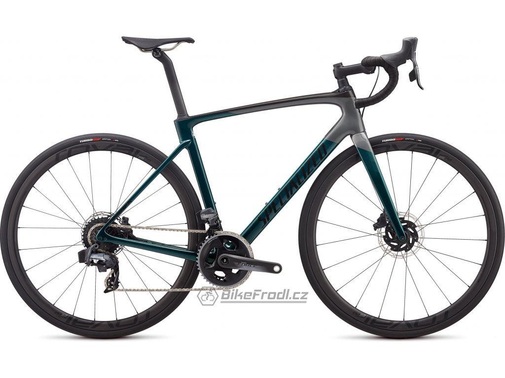 SPECIALIZED Roubaix Pro - SRAM Force eTap AXS Gloss Teal Tint/Charcoal/Blue, vel. 49 cm