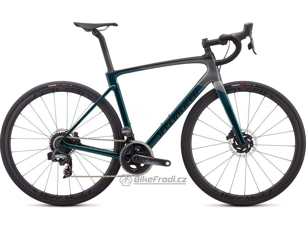 SPECIALIZED Roubaix Pro - SRAM Force eTap AXS Gloss Teal Tint/Charcoal/Blue, vel. 52 cm