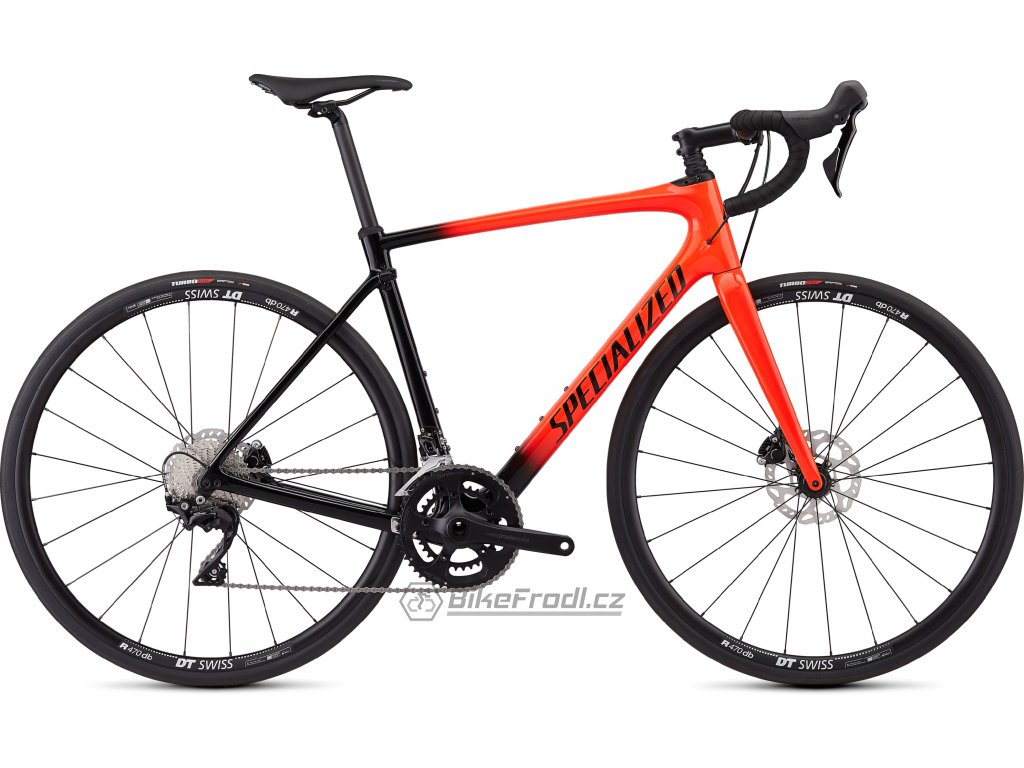 SPECIALIZED Roubaix Sport Gloss Rocket Red/Black Fade/Rocket Red/Clean, vel. 54 cm