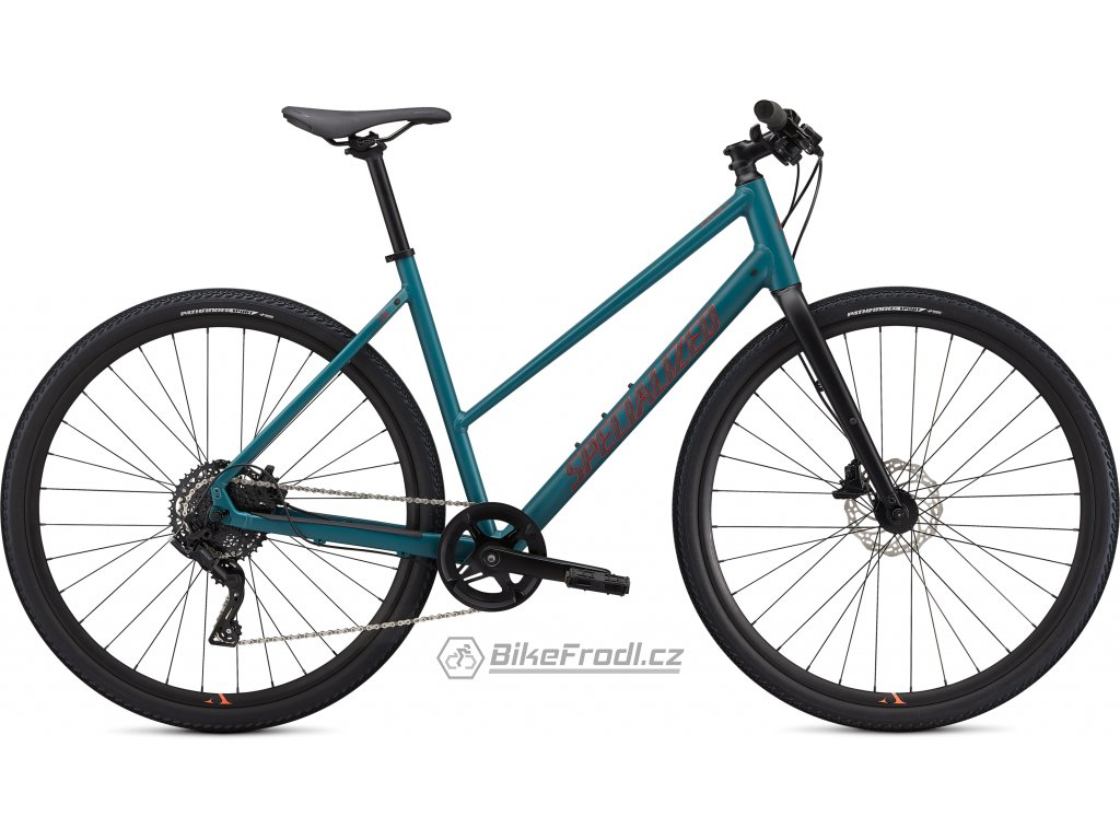 SPECIALIZED Sirrus X 2.0 Step Through Dusty Turquoise/Rocket Red/Black Reflective, vel. XS
