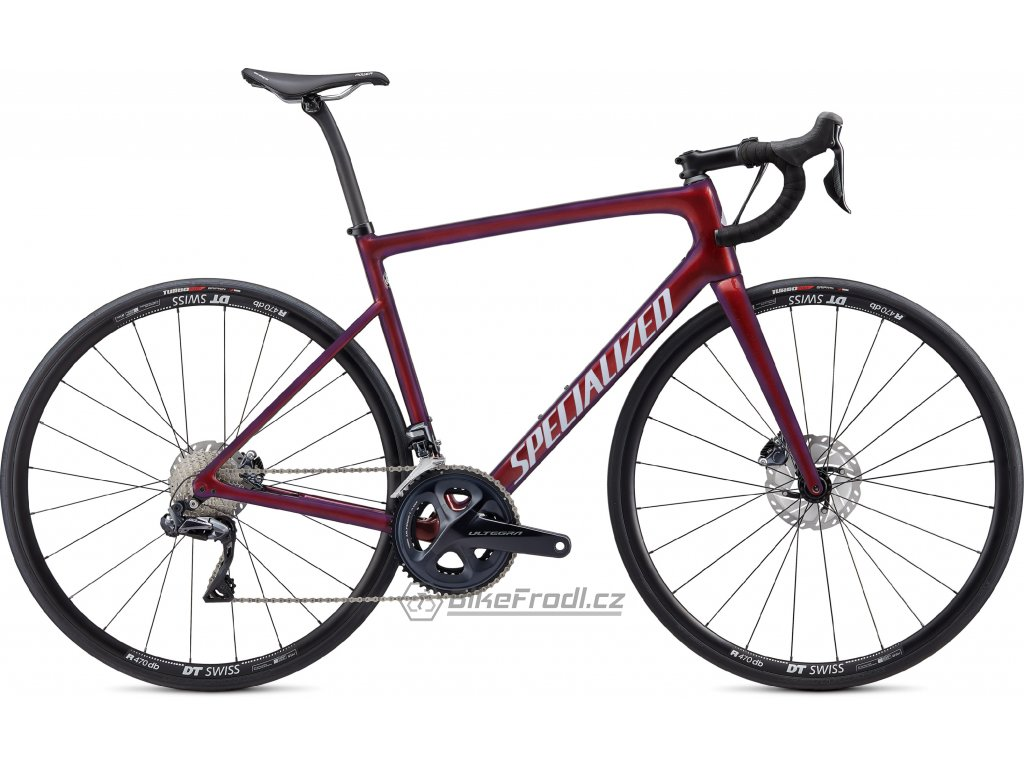 SPECIALIZED Tarmac Disc Comp Ultegra Di2 Gloss Cast Berry/Metallic Crimson/Dove Grey, vel. 44 cm