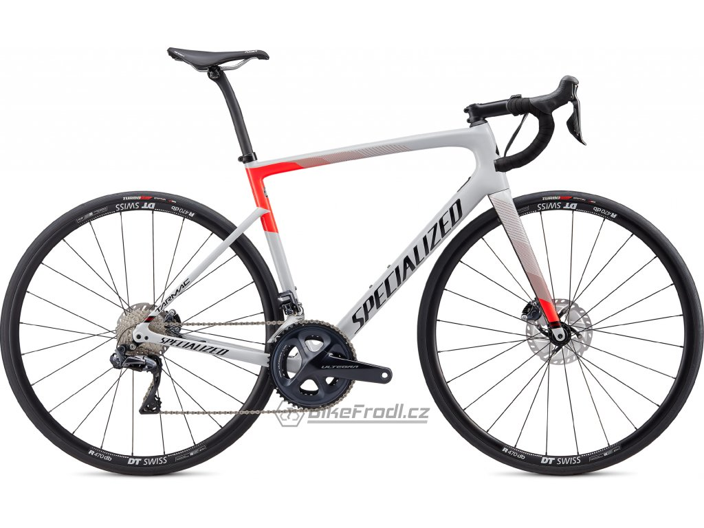 SPECIALIZED Tarmac Disc Comp Ultegra Di2 Gloss Dove Grey/Rocket Red/Tarmac Black, vel. 56 cm