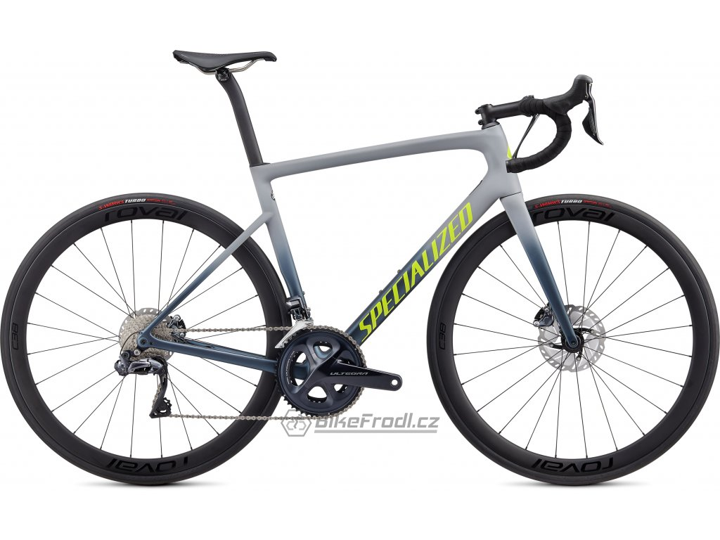 SPECIALIZED Tarmac Disc Expert Satin Cool Grey/Cast Battleship/Team Yellow, vel. 56 cm