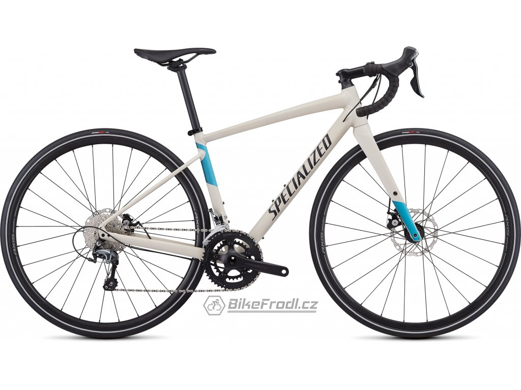 SPECIALIZED Women's Diverge E5 Elite Satin White Mountains/Tropical Teal-Nice Blue/Black, vel. 54 cm